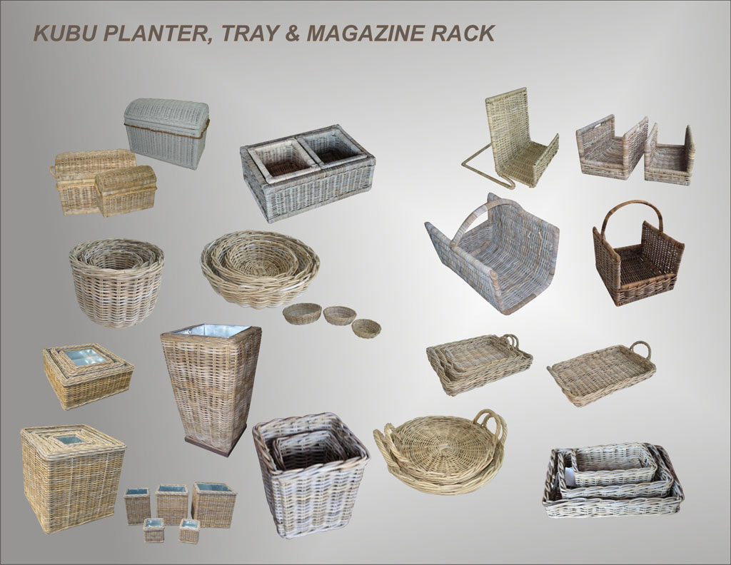 Planter, Tray, and Magazine Rack